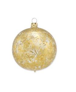 Kerstbal Transparant met Gouden Brocade Effect