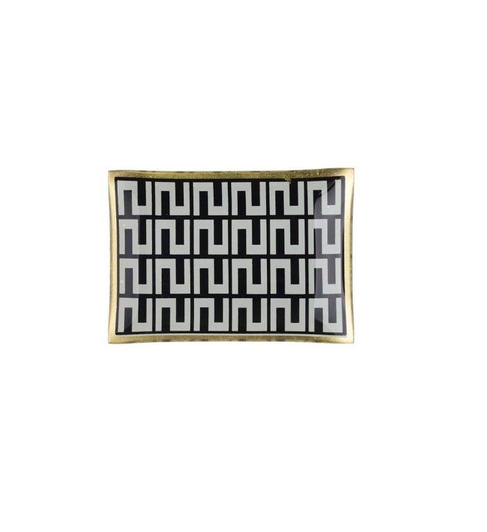 Giftcompany decoratief schaaltje voor sieraden met grafische print