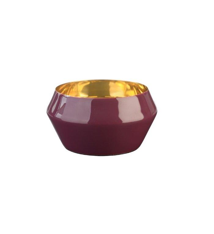 Giftcompany waxinelichtjeshouder Layer bordeaux rood / goud