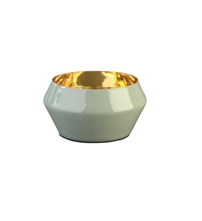 Giftcompany waxinelichtjeshouder Layer Chinees Jade / goud