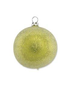 Kerstbal met Sprankelende Dauw Geel groen