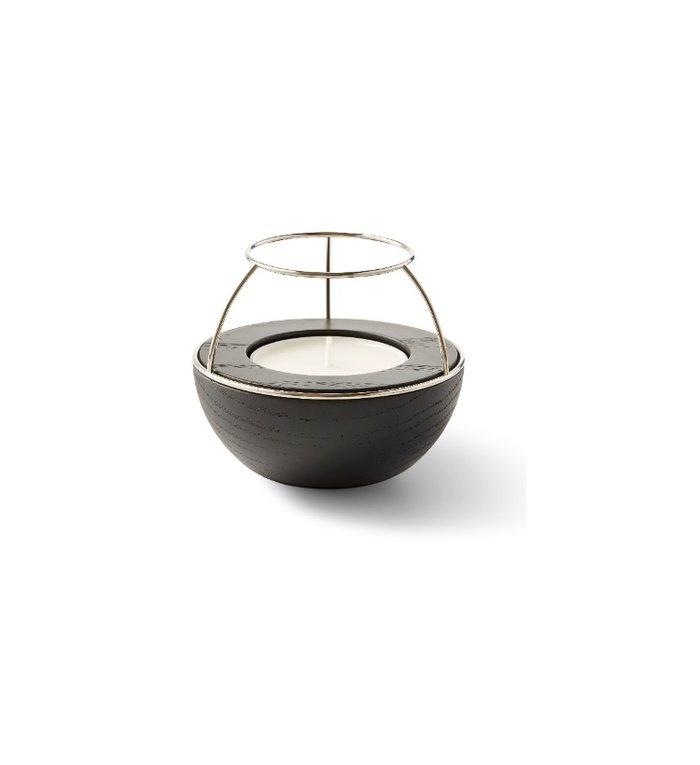 NAV Scandinavia Waxinelichthouder Flaming Rings Zwart/Zilver
