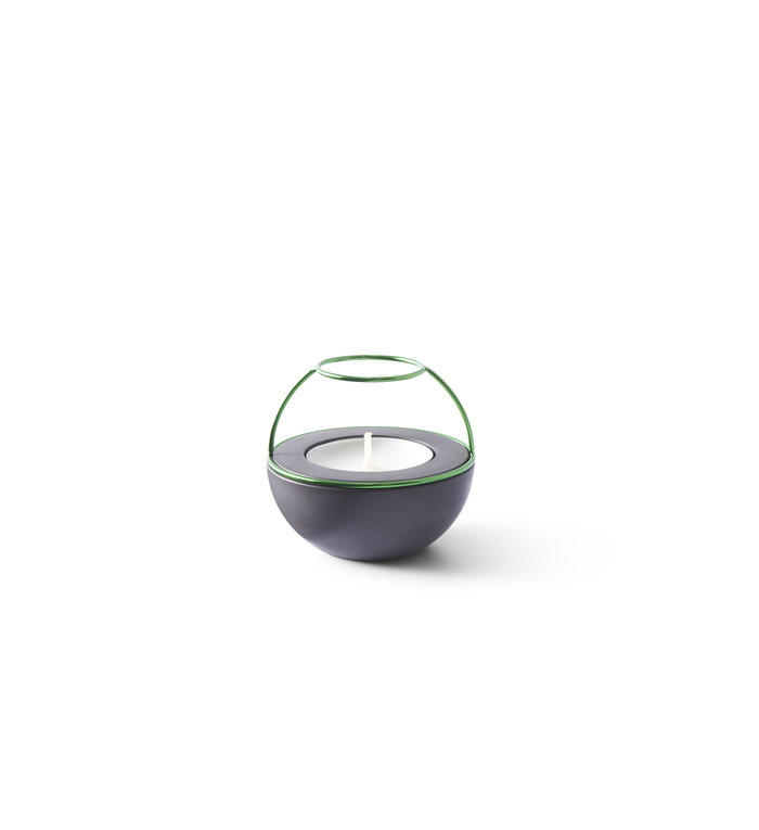 NAV Scandinavia Waxinelichthouder Flaming Rings Confetti zwart/groen