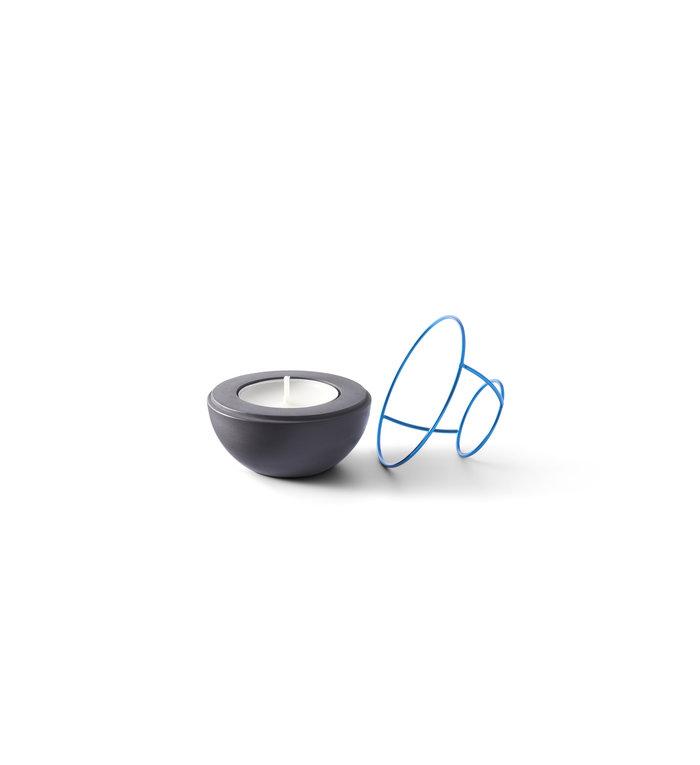 NAV Scandinavia Waxinelichthouder Flaming Rings Confetti Zwart/Blauw