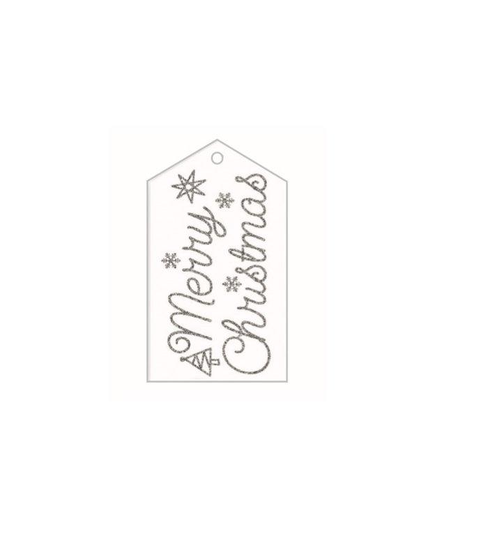 Naamkaartjes voor kerstcadeaus  set van 4 stuks Merry Christmas