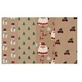 4 rollen inpakpapier voor kerstcadeaus 2m x 70 cm Lapland
