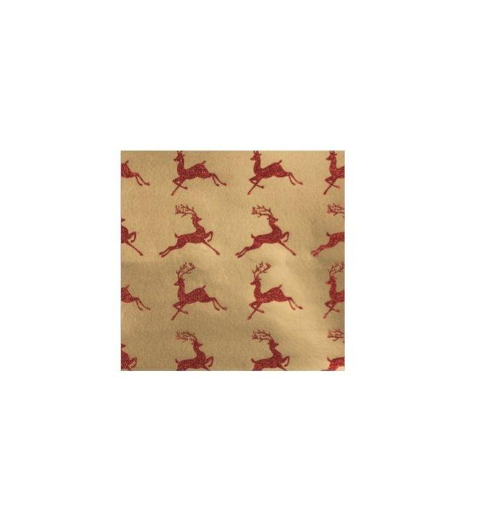 4 rollen inpakpapier voor kerstcadeaus 2m x 70 cm Brocade
