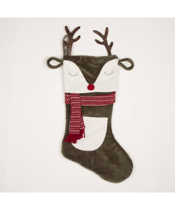 Rendier met Gewei Christmas Stocking