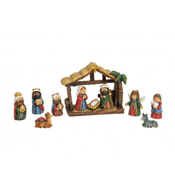Kleine complete kerststal 11-delig