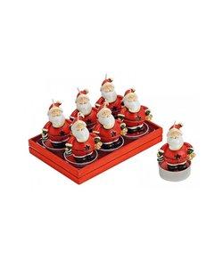 Set van 6 Kerstman Waxinekaarsjes