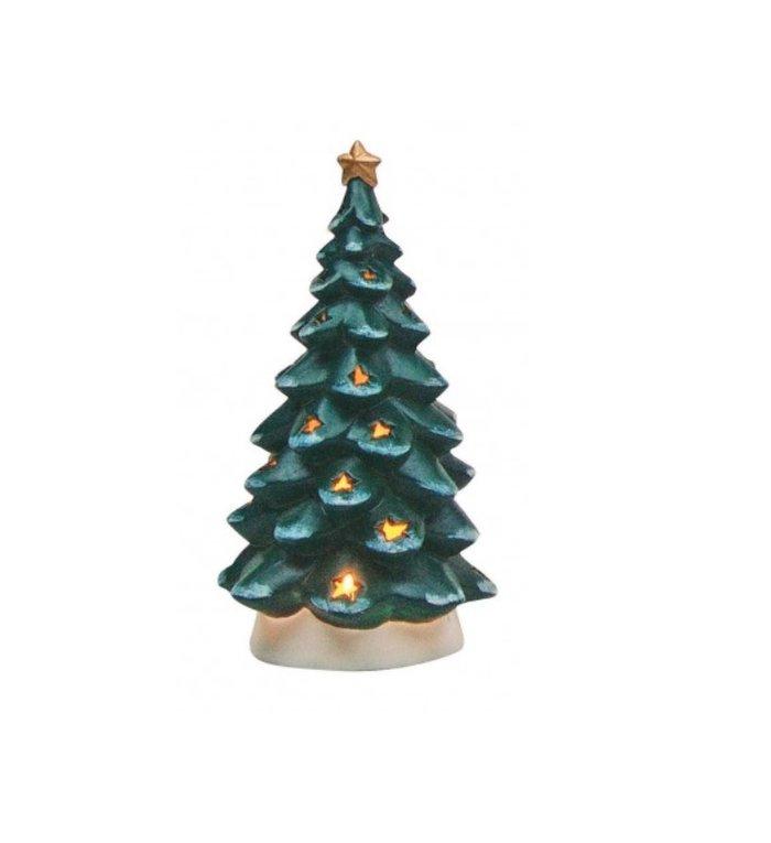 Kerstboom groot waxinelichthouder 21 cm