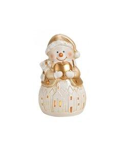 Sneeuwpop Waxinelichthouder