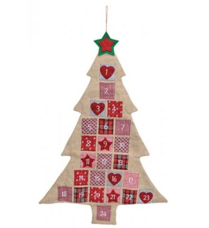 Adventskalender juten kerstboom
