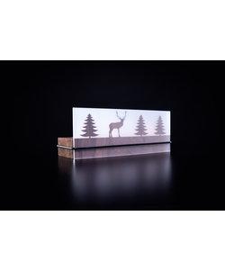 Schaduwspel Hert In Het Bos Waxinelichthouder