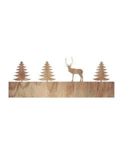Los Motief Hert In Het Bos Voor Schaduwspel Waxinelichthouder