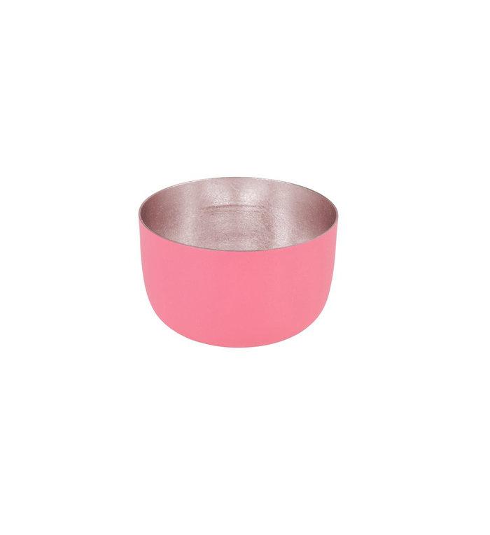 Giftcompany waxinelichtjeshouder koraal roze en nudegold