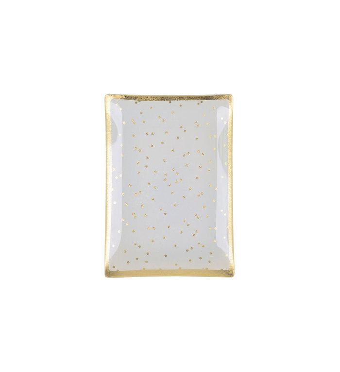 Giftcompany Glazen schoteltje met golden dots