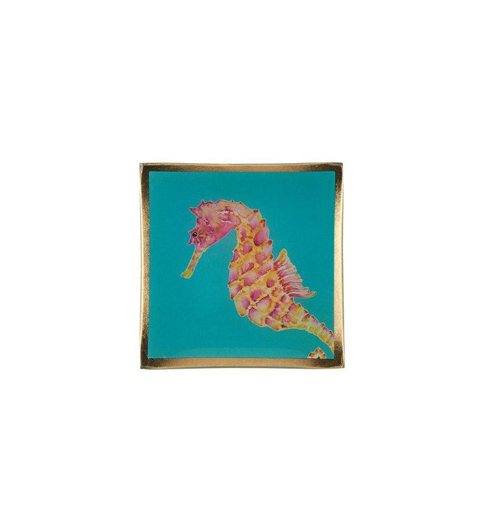 Giftcompany Glazen schoteltje met zeepaardje