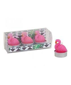 Flamingo Waxinekaarsjes
