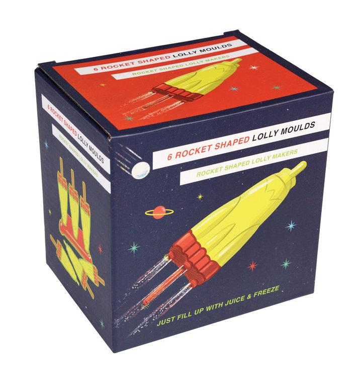Rex London raket ijsjeslolly vormen uit de Space Age  collectie