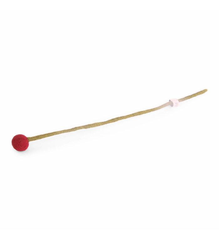 Én Gry & Sif rood vilten bloemetje