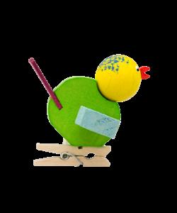 Vogeltje Geel en Groen