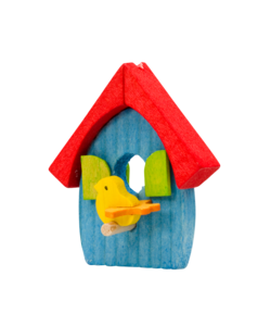 Vogelhuis Hangertje Blauw met Rood