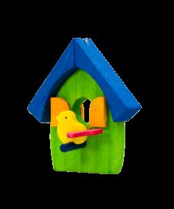 Vogelhuis Hangertje Groen met Blauw