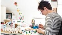 Houten en handgemaakte kunstwerkjes