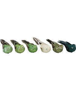 Groene Glitter Vogeltjes