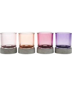 Vier Glazen Waxinelichthouders