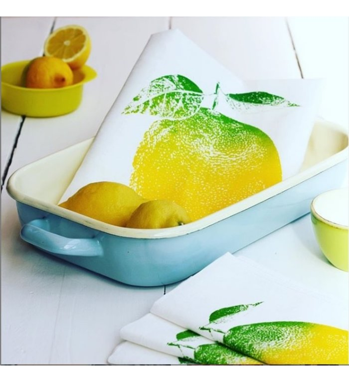 Frohstoff halflinnen theedoek met citroen