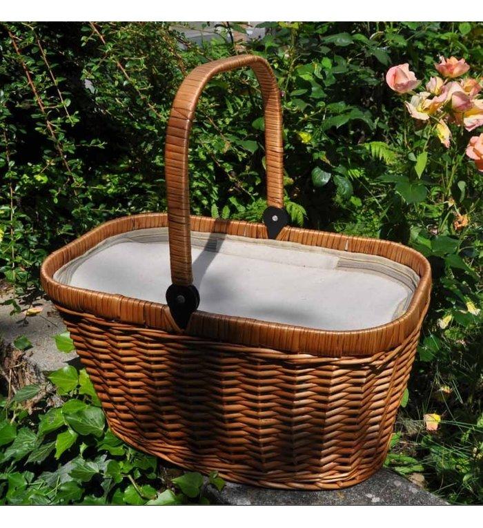 Les Jardins de la Comtesse geïsoleerde lege picknickmand met crèmekleurig linnen