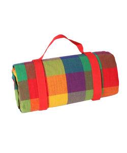 Picknickkleed Gekleurde Ruitjes XL