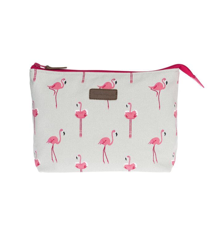 Sophie Allport toilettas met flamingo's design gemaakt van canvas