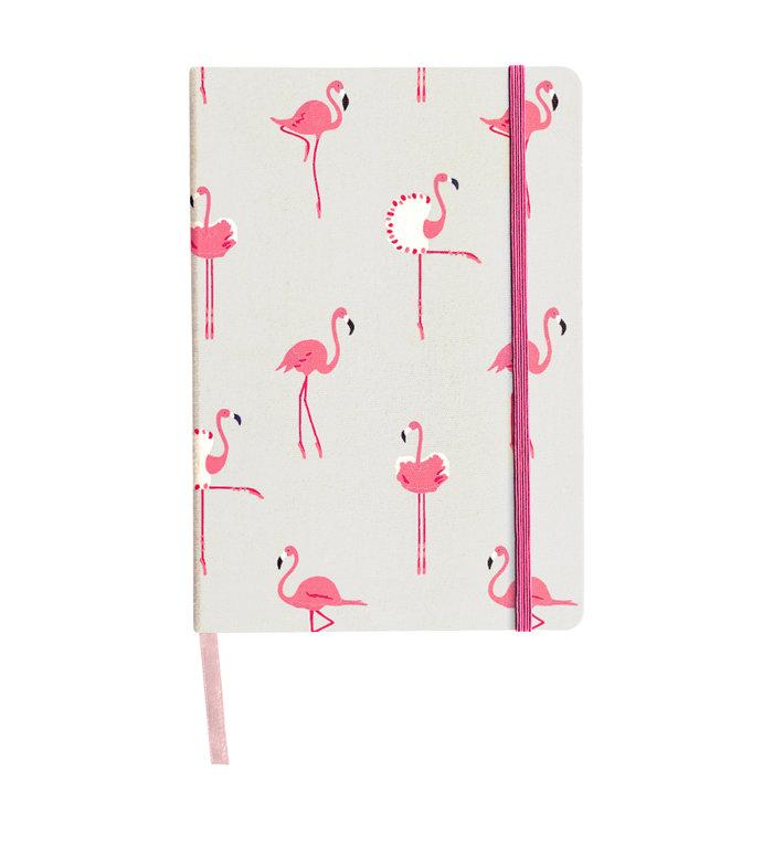 Sophie Allport hip notitieboekje met roze flamingo's A5 formaat
