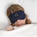 "Sophie Allport slaapmasker - oogmasker met champagneglazen en tekst ""One too many"""