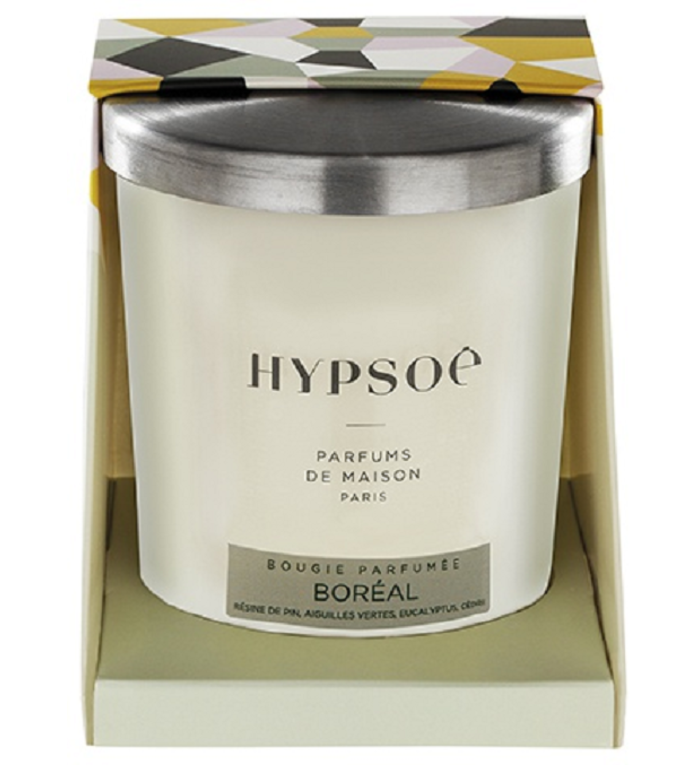 Hypsoé geurkaars Boréal kerstgeur 200 gram