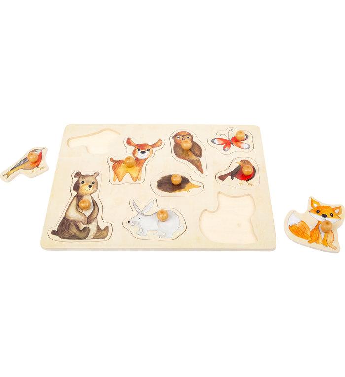 Small Foot houten puzzel met bosdieren en grote knoppen