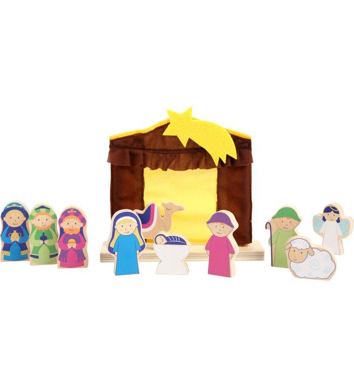 Small Foot kerststal voor kinderen speelset