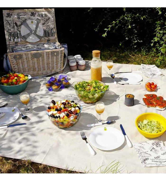 Les Jardins de la Comtesse effen beige picknickkleed  280 x 140 cm