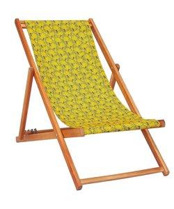 Ligstoel van Acaciahout Tropisch Geel