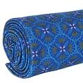 Vent de Bohème  tuinstoel - ligstoel - strandstoel van acaciahout met grafische print Lotus Blauw