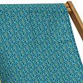 Vent de Bohème  tuinstoel - ligstoel - strandstoel van acaciahout met tropische print Moorea Turquoise