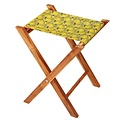 Vent de Bohème  visserskrukje, campingkrukje, kampeerkrukje, klapkrukje, voor binnen en buiten met tropische geel design
