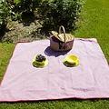 Les Jardins de la Comtesse rood geruit picknickkleed 140 x 140 cm
