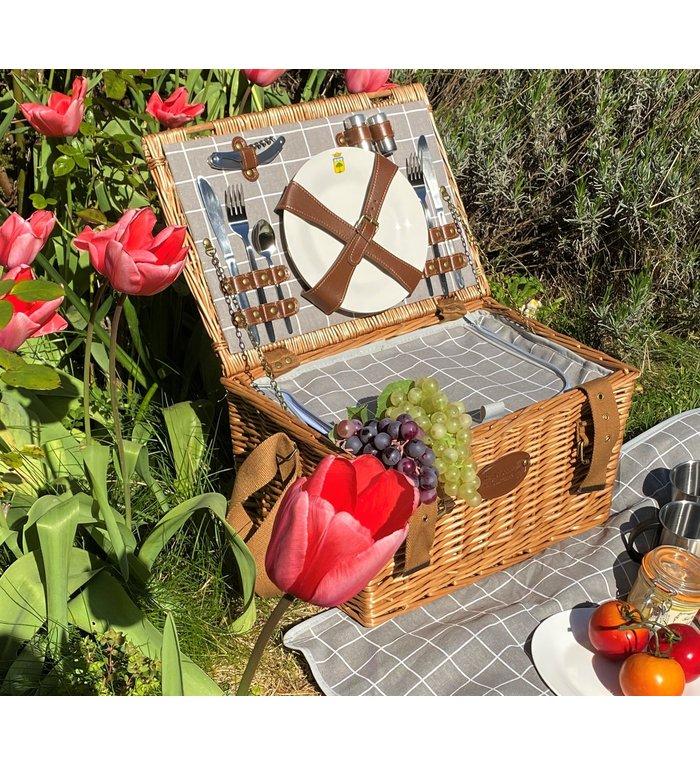 Les Jardins de la Comtesse complete picknickmand voor vier personen Provence