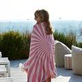 Sun of a Beach  vederlichte roze lollipop strandhanddoek - hamamdoek