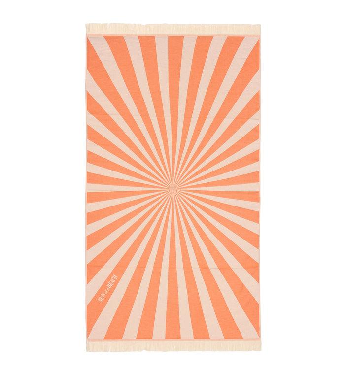 Sun of a Beach  vederlichte oranje lollipop strandhanddoek - hamamdoek