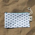 Sun of a Beach  katoenen strand clutch met boze oog patroon